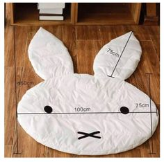 Best 12 Rabbit Soft Baby Play Rugs Type: Play mat, baby game mat Material: Cotton+ polyester Pattern: Rabbit Application: Living Room Size: (including the length of ears) Color: White Quantity: 1 PC Feature: Wrinkle-Resistant,Anti-Bacteria,Ant Tapetes Diy, Sewing Crafts, Sewing Projects, Living Room Size, Baby Pillows, Baby Games, Baby Play, Baby Decor, Baby Sewing
