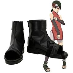 NARUTO Anime Uchiha Sarada Cosplay Shoes Boots Custom Made *** See this great product. (This is an affiliate link) Sarada Cosplay, Naruto Cosplay Costumes, Anime Cosplay, Naruto Uchiha, Naruto Anime, Naruto Clothing, Diy Clothing, Naruto Shoes, Skateboard Logo