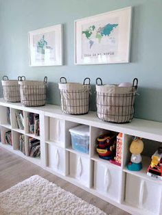 Trendy Kids Storage For Toys Playroom Organization Children Large Toy Storage, Baby Toy Storage, Kid Toy Storage, Storage Ideas, Wall Storage, Book Storage, Kitchen Storage, Cubby Shelves, Storage Bins