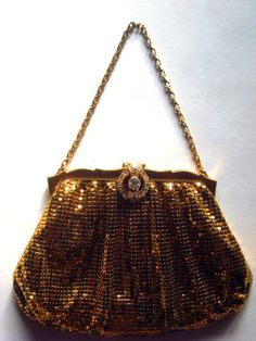 1940's Hollywood Regency Style Gold Mesh by GentlemanlyPursuits