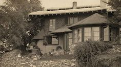 Charles Greene's house was one of the earliest in the Arroyo Terrace neighborhood in Pasadena - built 1902, with additional made over the next decade.