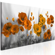 Cuadro decorativo Poppies: Shades of Orange - Kunst Diy Wall Painting, Flower Painting Canvas, Multiple Canvas Art, Graffiti Wall Art, Acrylic Art, Home Decor Wall Art, Metal Wall Art, Flower Art, Poppies