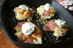 I Thee Cook: Loaded Smashed Potatoes