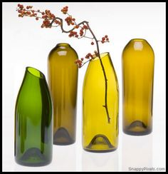 Decorate with Upcycled Wine Bottles