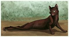 Warriors by Erin Hunter| Briarlight, ThunderClan, Warrior. She cannot use her back legs. They are broken.