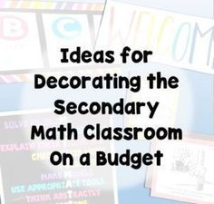 Decorating the Secondary Math Classroom Ideas for decorating middle and high school math classrooms without spending much money! The post Decorating the Secondary Math Classroom appeared first on School Diy. Teaching Schools, Teaching Math, Teaching Ideas, Algebra Activities, Math Games, Teaching Resources, Teaching Posters, Teaching Geometry, Teaching Activities