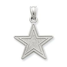 Dallas Cowboys NFL Sterling Silver 5/8 Charm by Logo Art. $29.99. Show everyone which team youre rooting for. 5/8 large and made of sterling silver. Custom made when ordered.