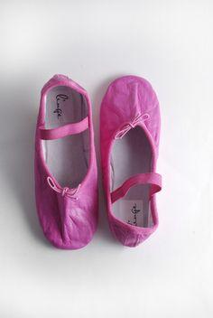Fuchsia Rose Ballet Shoe