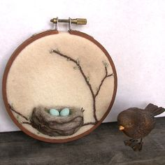 3D Wool nest wall art by Janine - Foxtail Creek Studio, via Flickr
