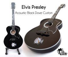 Elvis Gibson Dove replica custom guitars as used by Elvis in ALOHA FROM HAWAII