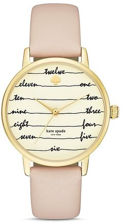 kate spade new york Chalkboard Metro Leather Strap Watch, 34mm - $195.00