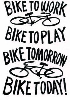 #Bikes, bikes, bikes. Bike everywhere