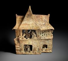 """House Model"" dated 100 B. 200 from Mexico, Nayarit. Part of the exhibition ""Design for Eternity: Architectural Models from the Ancient America"" Clay Houses, Ceramic Houses, Art Houses, Miniature Houses, Ancient Peruvian, Pottery Houses, Mesoamerican, Inca, Model Gallery"
