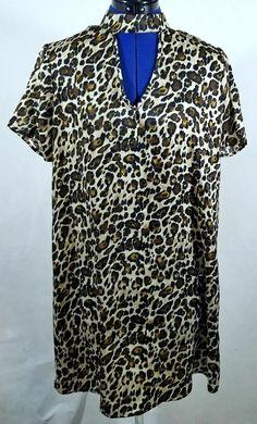 Trixxi Leopard Print Choker Sheath Dress Medium NEW Nordstrom Brand  Trixxi   SheathDress Sheath Dress f96407bec