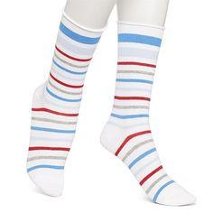 Hue Jeans Sock - White Striped
