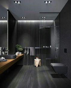 Bathroom Design Luxury, Modern Bathroom Design, Modern House Design, Bathroom Designs, Black Bedroom Design, Industrial Bedroom Design, Home Room Design, Dream Home Design, Home Interior Design