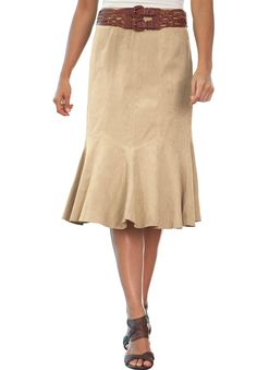 Suede Skirt with Godets | Plus Size Skirts | Jessica London