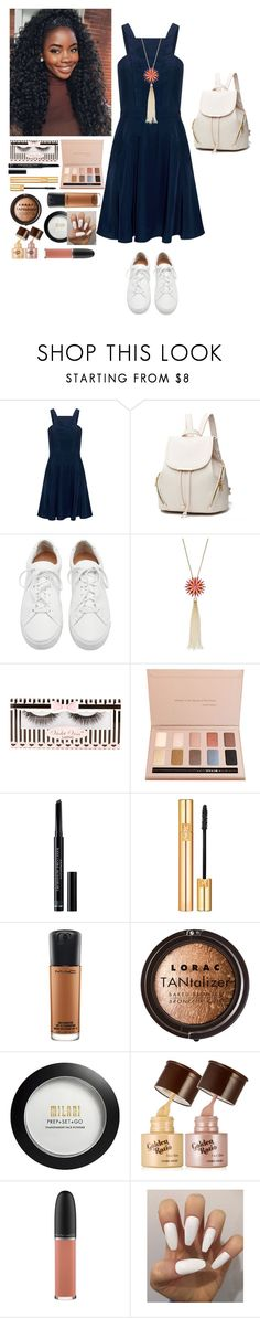 """Untitled #905"" by mazzyfaye on Polyvore featuring Finders Keepers, Loeffler Randall, Stila, Christian Dior, Yves Saint Laurent, MAC Cosmetics, LORAC and Milani"