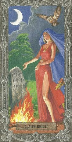 II. The High Priestess - Tarot Of The Druids (De Vecchi)