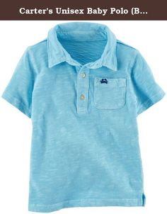 Carter's Unisex Baby Polo (Baby) - Blue - 3M. Carters Polo (Baby) - Blue Carter's is the leading brand of children's clothing gifts and accessories in America selling more than 10 products for every child born in the U.S. Their designs are based on a heritage of quality and innovation that has earned them the trust of generations of families.