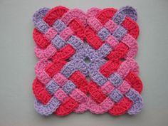 granny square patterns | Celtic Knot granny square free #crochet pattern | Doily / Coaster /...