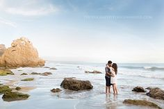 It couldn't have been a more beautiful day when I set foot on the sands of Malibu with Denise and Brandon. The beach is already picturesque in itself, but we were delighted with a gorgeous su… Sunset Photography, Couple Photography, Engagement Photography, Photography Poses, Engagement Session, Beach Engagement Photos, Engagement Ideas, Engagements, El Matador Beach