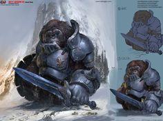 ArtStation - Orangutan Warrior, Dongjun Lu