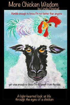 More Chicken Wisdom: A light hearted look at life through the eyes of farmyard animals Chicken Pictures, Cow Pictures, Chicken Painting, Chicken Art, Chicken And Cow, Chicken Humor, Girlfriend Humor, Cow Art, Pallet Painting