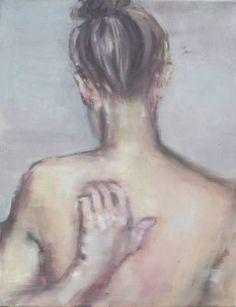 """Saatchi Art Artist Pauline Zenk; Painting, """"Girl scratching her back"""" #art"""