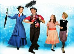 "... the Chimney Sweep with Children in ""Mary Poppins"" at Marriott Theatre"