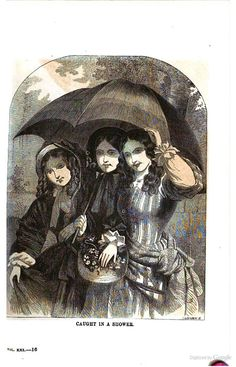 1863 Arthur's Lady's Home Magazine - civil war era fashion umbrella