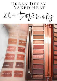 Urban Decay Naked Heat Tutorials and Looks for Inspiration - Over 20 of the best UD Naked Heat and Petite Heat Tutorials & Looks to inspire you!