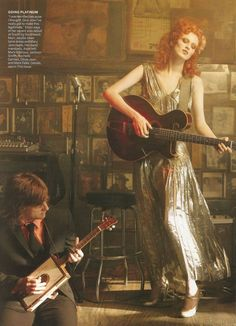 Karen Elson and Jack White by Annie Leibovitz for...