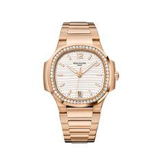 Patek Philippe Nautilus rose gold, white dial