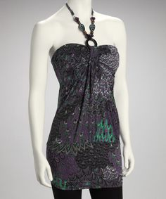 Take a look at this Purple Beaded Halter Top by Modern Touch on #zulily today!