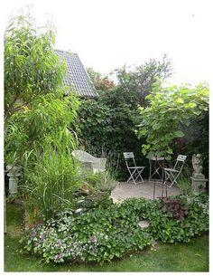 Mysig vrå i trädgården