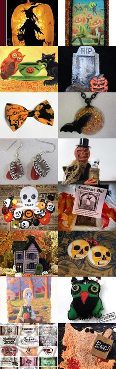 Pumpkins Fat and Witches Lean by Debbi Decker.  A Halloween Artist Bazaar Treasury #halloweenartistbazaar #halloween