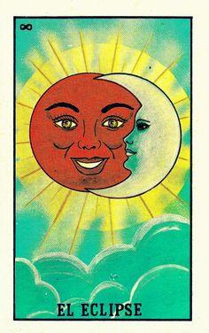 "Eclipse amatelwaki: "" El Eclipse by Arnoil García "" - Psychedelic Art, Art Pop, Loteria Cards, Mexico Art, Chicano Art, Hippie Art, Photo Wall Collage, Mexican Folk Art, Moon Art"