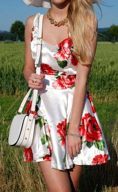 #Pretty floral #dress