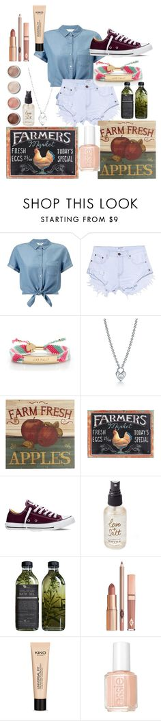 """Farm?"" by aflynn173 ❤ liked on Polyvore featuring Miss Selfridge, One Teaspoon, Kate Spade, Tiffany & Co., Pier 1 Imports, Dot & Bo, Converse, Olivine, AMBRE and Terre Mère"