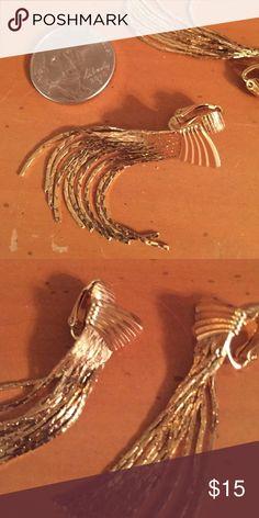Fancy Gold Drop Earrings - Clip-On Lovely gold drop earrings - clip-on - perfect for that fancy event! Jewelry Earrings