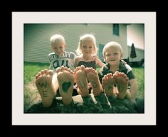 Father's Day or Dad's Birthday idea, frame it...great gift from the kids!