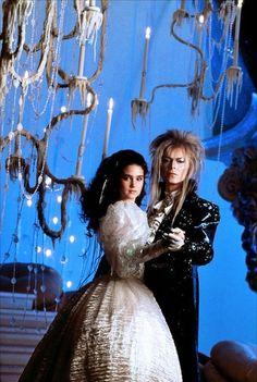 Jennifer Conelly y David Bowie en Laberinto (Labyrinth, 1986)