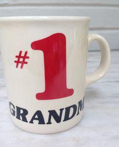 vintage Grandma mug, #1 Grandma mug, made in England by MotherMuse on Etsy