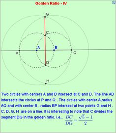 Division of a line segment into golden ratio. http://mathematicsbhilai.blogspot.in/2012/04/golden-ratio-iv.html