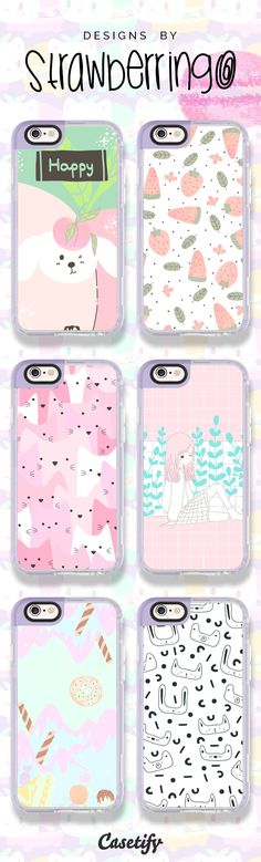 For the pastels fans! Check out these designs by @strawberringo here: https://www.casetify.com/artworks/gaaUuBvR4u | @casetify