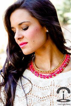 DIY Collar flúor   Crímenes de la Moda en stylelovely.com