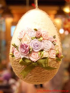 Easter egg very nice Easter Egg Crafts, Easter Projects, Easter Eggs, Holiday Ornaments, Holiday Crafts, Diy Y Manualidades, Easter Parade, Egg Art, Egg Decorating