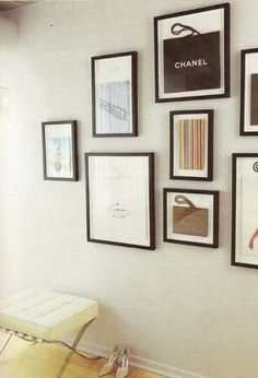 framed designer bags! how adorable is this?