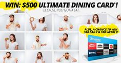 Win a $500 Ultimate Dining Card